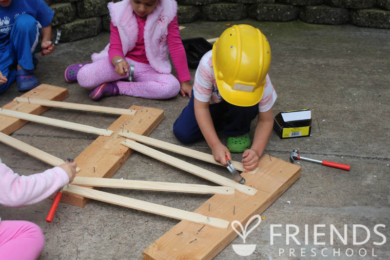 Validating children with real building materials